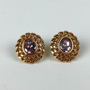 Vintage Swarovski Faceted Earrings